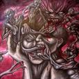 En man i symbios med flera demoner och monster