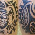 En maoridesign runt benet